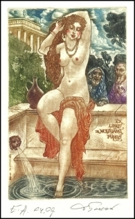 David Bekker 1999 Exlibris C4 Mythology Susanna Erotic Nude 698