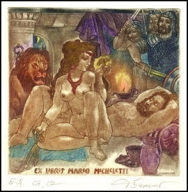 David Bekker 2001 Exlibris C4 Mythology Samson & Delilah 773