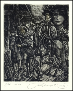 Kirnitskiy Sergey 2006 Exlibris C4 Don Quichote Erotic Mill 138