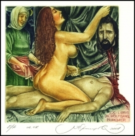 Kirnitskiy Sergey 2001 Exlibris C4 Mythology Judith Erotic 34