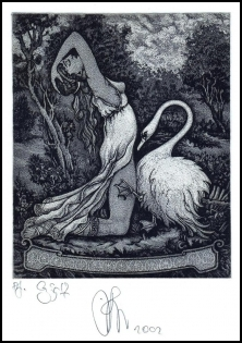Agirba Ruslan 2002 Exlibris C3 Project Leda and Swan Erotic 231p