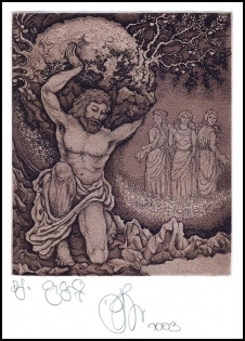 Agirba Ruslan 2003 Exlibris C3 Project Mythology Atlas Erotic p
