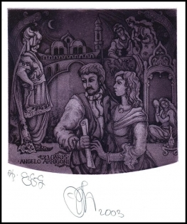 Agirba Ruslan 2003 Exlibris C3 Mozart Abduction from Seraglio