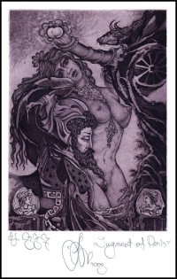 Agirba Ruslan 2003 Exlibris C3 Project Mythology Nude Numismatic