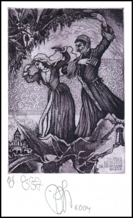 Agirba Ruslan 2004 Exlibris C3 Georgie is Dance Folklore 255