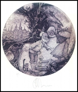 Agirba Ruslan 2004 Exlibris C3 Fairy Tale Pushkin Goldenfish Cat