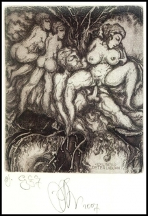 Agirba Ruslan 2007 Exlibris C3 Mythology Paris Erotic Nude 280