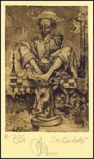 Agirba Ruslan 2010 Exlibris C3 Project Don Quichote Chess Bull