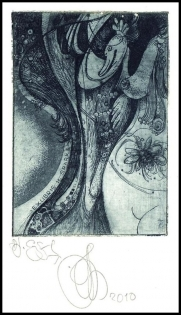Agirba Ruslan 2010 Exlibris C3 Leda and Swan Mythology Erotic
