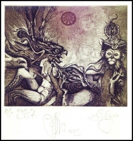 Agirba Ruslan 2003 Exlibris C3 Project Mythology Harpies Erotic