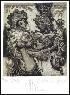 Agirba Ruslan 2012 Exlibris C3 Satir and Nymphes Mythology p11