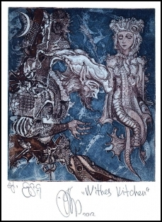 Agirba Ruslan 2012 Exlibris C3 Project Witches Kitchen Mythology
