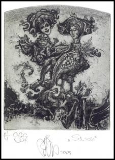 Agirba Ruslan 2010 Exlibris C3 Project Mythology Sirens Birds p2