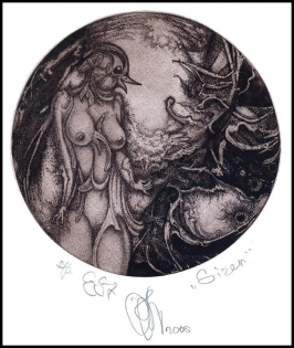 Agirba Ruslan 2005 Exlibris C3 Project Mythology Siren Erotic 24