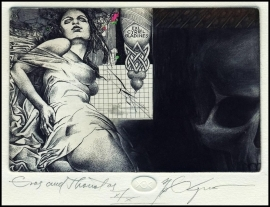 Kerin Hristo 2013 Exlibris C3 Mythology Eros and Thanatos Erotic