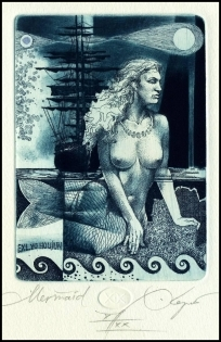 Kerin Hristo 2015 Exlibris C3 Mythology Siren Erotic Sailing 169