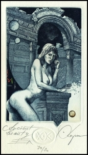 Kerin Hristo 2007 Exlibris C3 Ancient Beauty Erotic Nude Woman